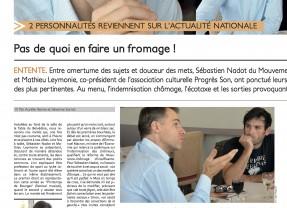 Sébastien Nadot, invité du Journal Toulousain : chômage, écotaxe et Zemmour au menu…