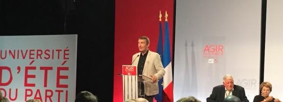 COP 21 : Jean-Noël Carpentier à l'Université d'été du PS