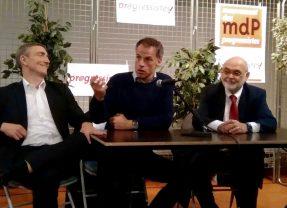 Près de 100 personnes à Montigny autour de Robert Hue et Sébastien Nadot