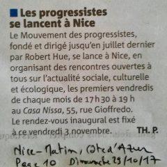 Les progressistes se lancent à Nice !