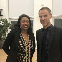 Sébastien NADOT, député et porte-parole du MdP, rencontre Laura FLESSEL, Ministre des sports