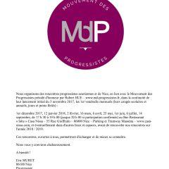 Rencontres progressistes de Nice – Vendredi 1er décembre – 17h30 – Casa Nissa