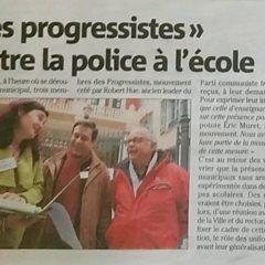 Les progressistes de Nice contre la police à l'école