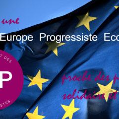 Rencontre pour l'Europe progressiste et écologiste – samedi 13 octobre – Paris