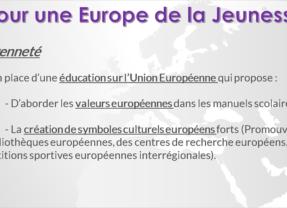 Pour une Europe de la Jeunesse !