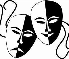 « Europe et France » masques blanc et noir du spectacle