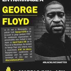 Rassemblement en hommage à George Floyd et contre le racisme !