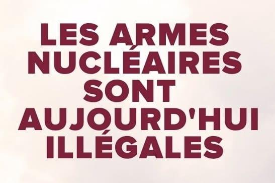 Le Traité sur l'interdiction des armes nucléaires est entré en vigueur, la France doit y adhérer !