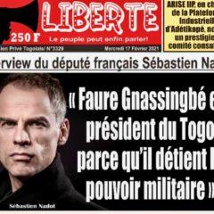 Togo : Pour Sébastien Nadot, Faure Gnassingbé est président parce qu'il détient le pouvoir militaire !