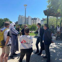 Soutien aux exilés et sans-papiers du jardin Villemin – L'Etat doit prendre des mesures en urgence pour assurer dignité et humanité !